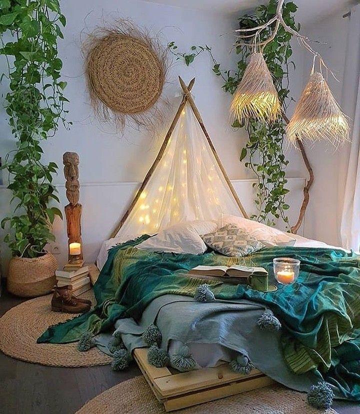 Desain kamar dengan nuansa alam