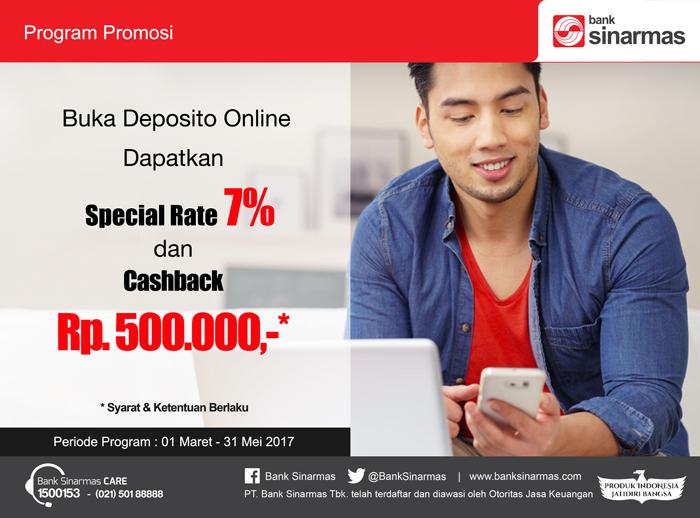 Deposito Rp500 Ribu Menakjubkan di Bank Sinarmas